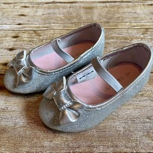 FREE Carter's size 5 silver sparkle toddler flats